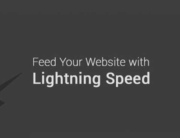 Feed your Website with Lightning Speed