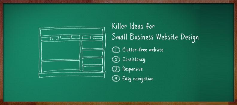 Galerry small website design ideas
